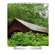 North Fork Yachats Bridge 1 Shower Curtain