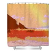 North Friars Bay Diffused Shower Curtain