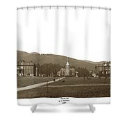 North Hall, Bacon Hall, Library, South Hall, University Of Calif Shower Curtain