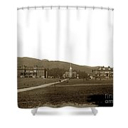 North Hall, Bacon Hall, Library, South Hall, University Of California At Berkeley Circa 1905 Shower Curtain