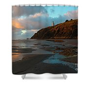 North Head Light Reflections Shower Curtain