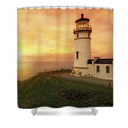 North Head Lighthouse At Sunset Shower Curtain