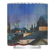 North Hollywood Sky Line Shower Curtain