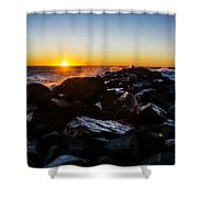 North Jetty Shower Curtain