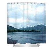 North Kaneohe Bay Shower Curtain