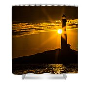 North Light Sunflare Shower Curtain
