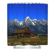 North Moulton Barn Grand Tetons Shower Curtain
