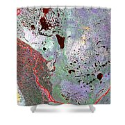 North Of Canada From Space Shower Curtain