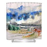 North Of France 01 - The Coast Shower Curtain