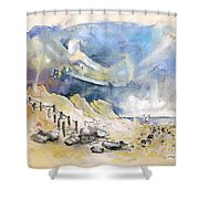 North Of France 03 - The Coast Shower Curtain