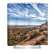 North Of Moab Shower Curtain