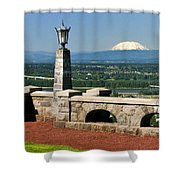 North Of Portland Shower Curtain