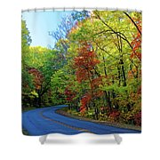 North Of The Folk Art Center In Fall Shower Curtain