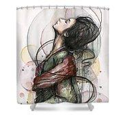 Beautiful Lady Shower Curtain