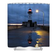 North Pier Reflections Shower Curtain
