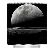 North Rim Grand Canyon Moon Shower Curtain