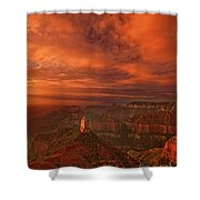 North Rim Storm Clouds Grand Canyon National Park Arizona Shower Curtain