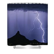 North Scottsdale Arizona Pinnacle Peak Monsoon Shower Curtain