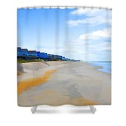 North Sea Beach 3 Shower Curtain