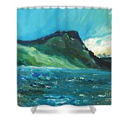 North Sea Shower Curtain