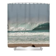 North Shore A-frame Shower Curtain