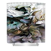 North Shore Abstract Wild Flowers Shower Curtain