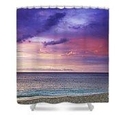 North Shore Beach Sunset Shower Curtain