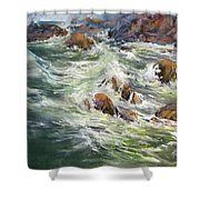 North Shore Drama Shower Curtain