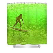 North Shore Green Shower Curtain