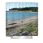 North Shore Of Penn Cove Shower Curtain