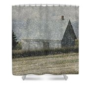 North Shore Snowstorm Shower Curtain