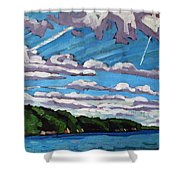 North Shore Stratocumulus Streets Shower Curtain
