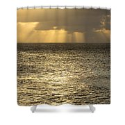 North Shore Sunset Glow Shower Curtain by Charmian Vistaunet