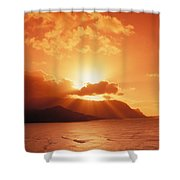 North Shore, Sunset Shower Curtain