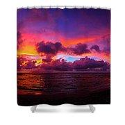 North Shore Sunset  Shower Curtain