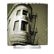 North Side Building Shower Curtain