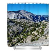 North Side Of Half Dome Valley Shower Curtain
