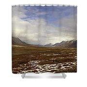 North Slope Dalton Highway Arctic Alaska Shower Curtain