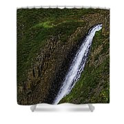 North Table Mountain Falls Shower Curtain