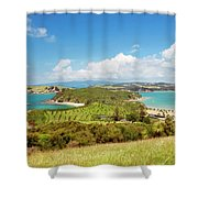 North Tower Viewpoint Rotoroa New Zealand Shower Curtain