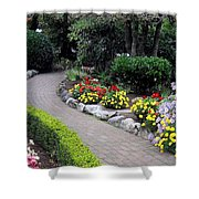 North Vancouver Garden Shower Curtain by Will Borden