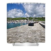 North Wall - Lyme Regis Shower Curtain