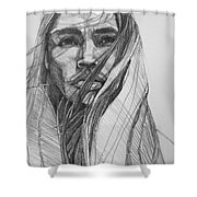 North Wind  Shower Curtain by Jani Freimann