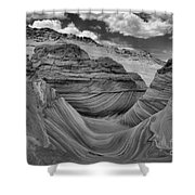Northern Arizona Desert Swirls Shower Curtain