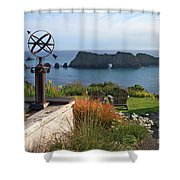 Northern California Coast View Shower Curtain