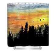Northern Gold Shower Curtain