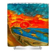Northern Irish Sunset Shower Curtain