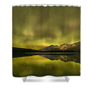 Northern Light Beams Shower Curtain