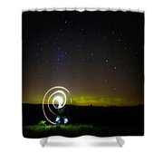 023 - Night Writing Shower Curtain