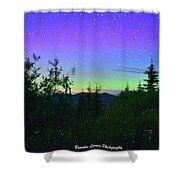 Northern Lights At Mount Pilchuck Shower Curtain